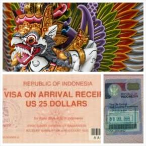 Виза по прибытию в Индонезию (на Бали)