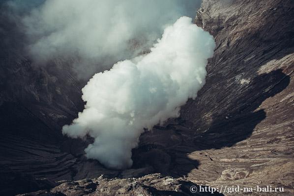 Вулканы Явы, кратер вулкана Бромо