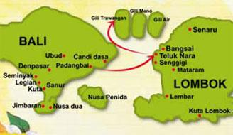 карта Ломбок, Гили